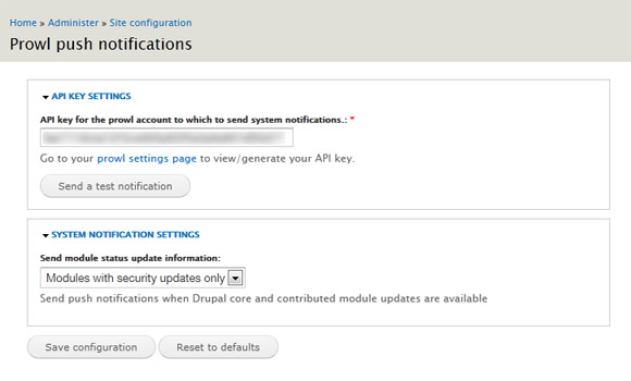 Configuring Prowl for Drupal, to enable you to receive push notifications to your iPhone or iPad from Drupal